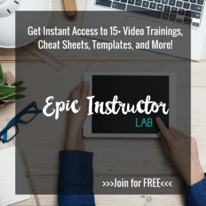 Epic Instructor Lab | A Free Video Course to Help You Create Your First Course