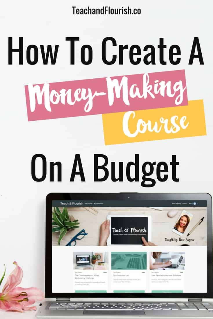 Want to create your first online course for less than $50?