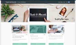 Example of my Online Courses self-hosted using Thinkific Platform