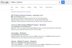 How to find affiliate programs in Google search