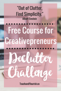 Declutter your online business and your mind with this 4-step challenge.