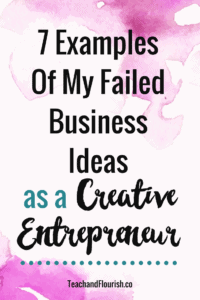 Before finding success, sometimes you have to flop a time or two or three...Click through to read about my business failures and how I eventually created one that worked!