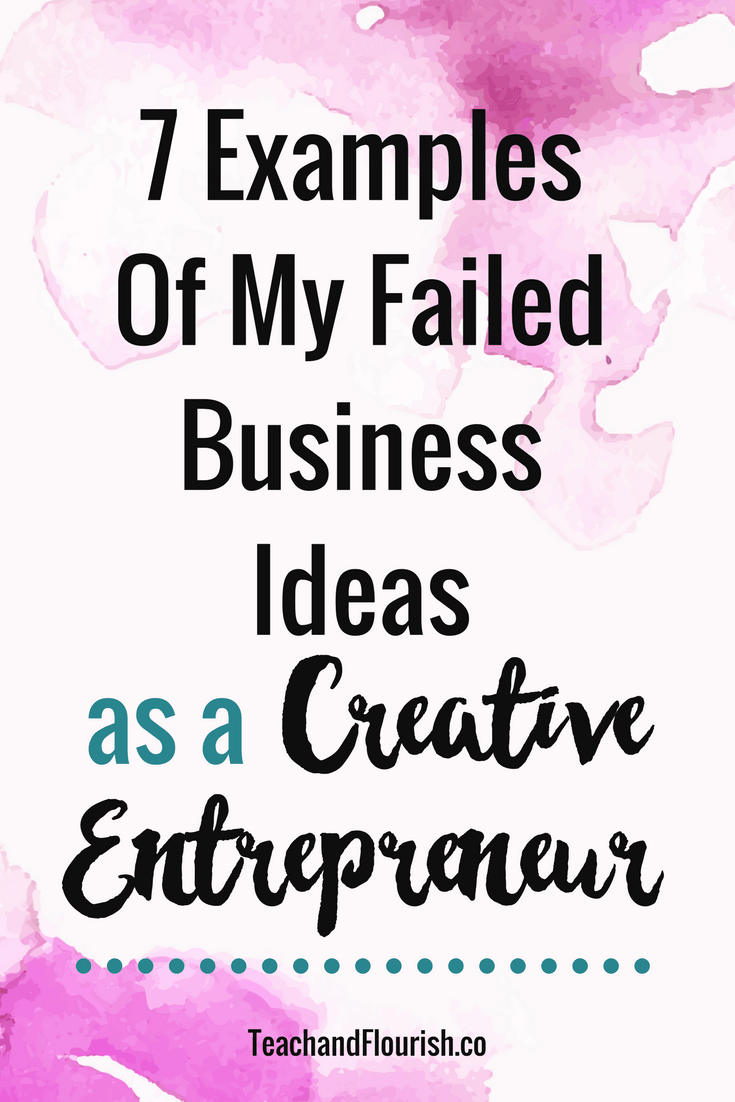 7 Examples of How I Failed as a Creative Entrepreneur
