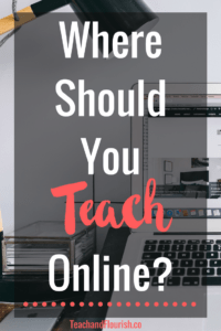 Where should you teach online classes?