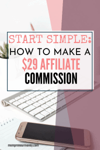 Here's a quick scenario of how I made a $29 affiliate commission from one product. Starting simple with your afiliate promotions is a good thing. Click to read on.