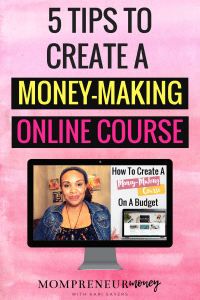 Ready to create an online course, but you don't want to spend hundreds of dollars on software and equipment? Here's 5 tips on how I created my first money-making course for less than $50. Click through to read the full blog post.