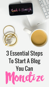 Not all blogs are created equal! I learned this the hard way but now I know 3 best practices for starting a blog you can monetize. Click through to see exactly what you need to get started.