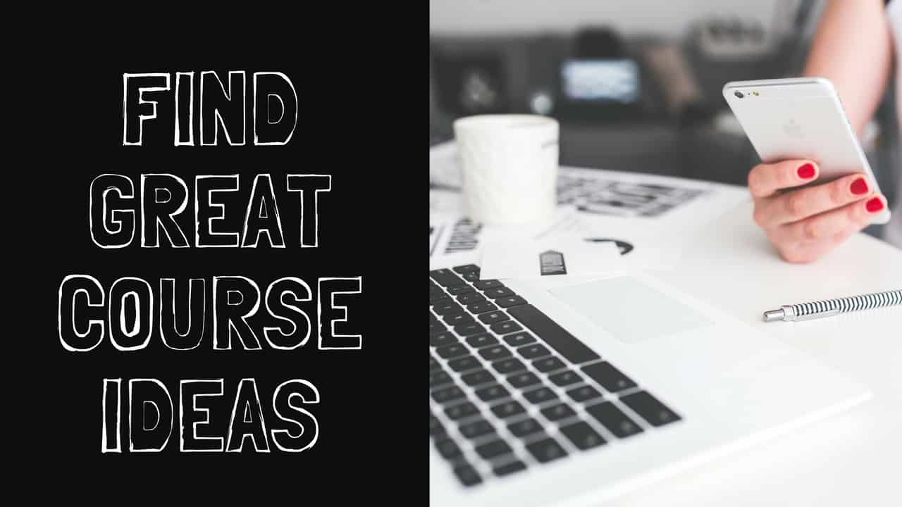 find great course ideas free course
