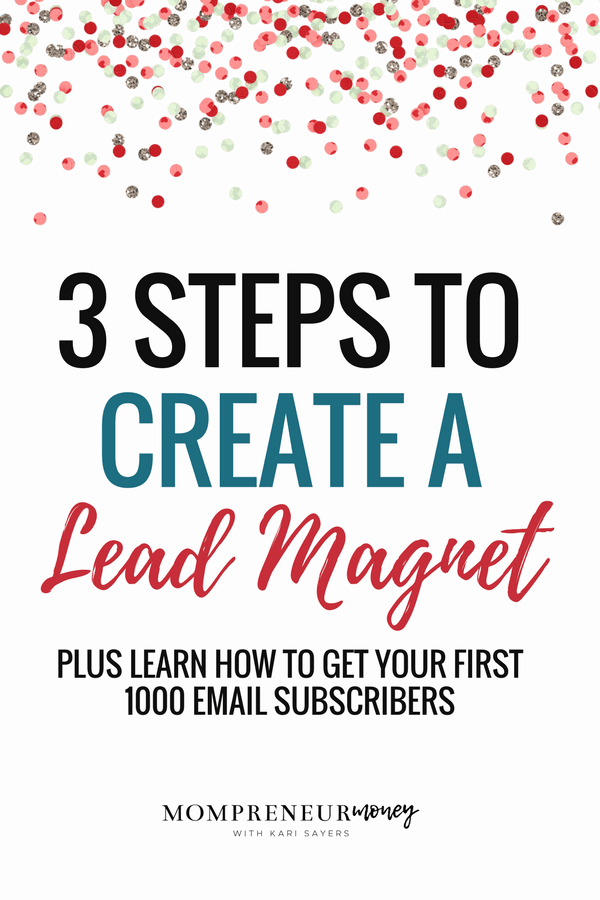 3 STEP  TO CREATE A LEAD MAGNET