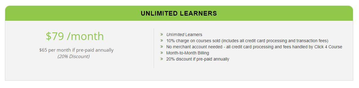 Click4Course Pricing Plan