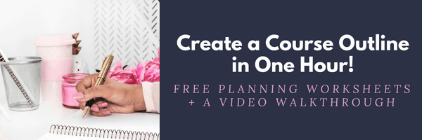 Create a Course Outline for 11 platforms page How to Create a Course on CourseCraft