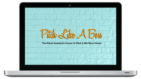 Pitch Like A Boss – email graphic
