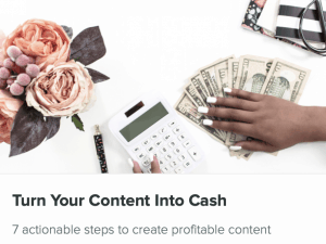 how to turn your blog content into cash