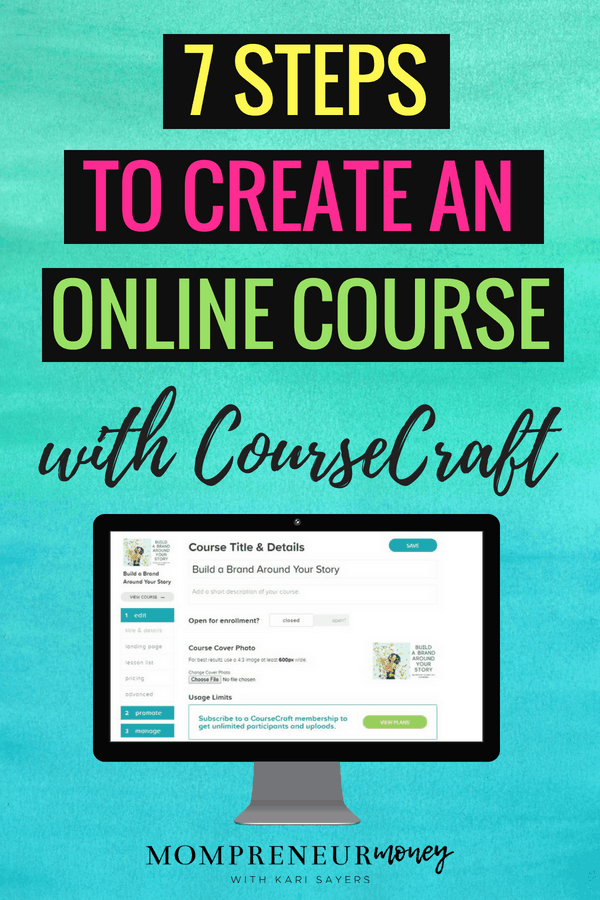 Create an Online Course with CourseCraft