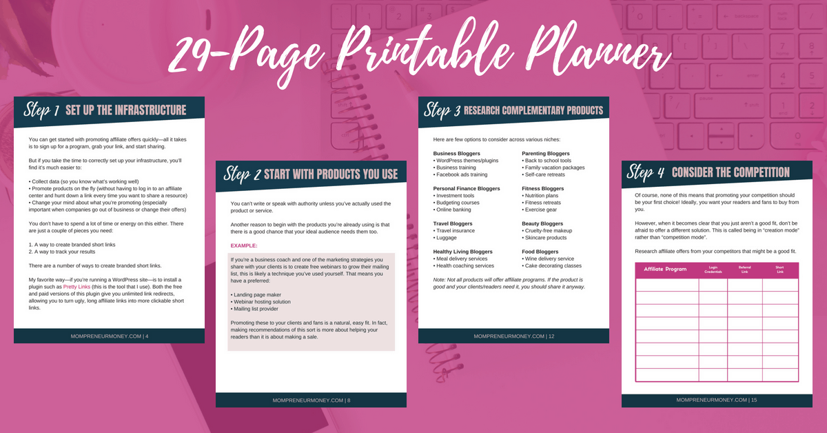 Affiliate Income Planner Sales Page Image with Worksheets (1)