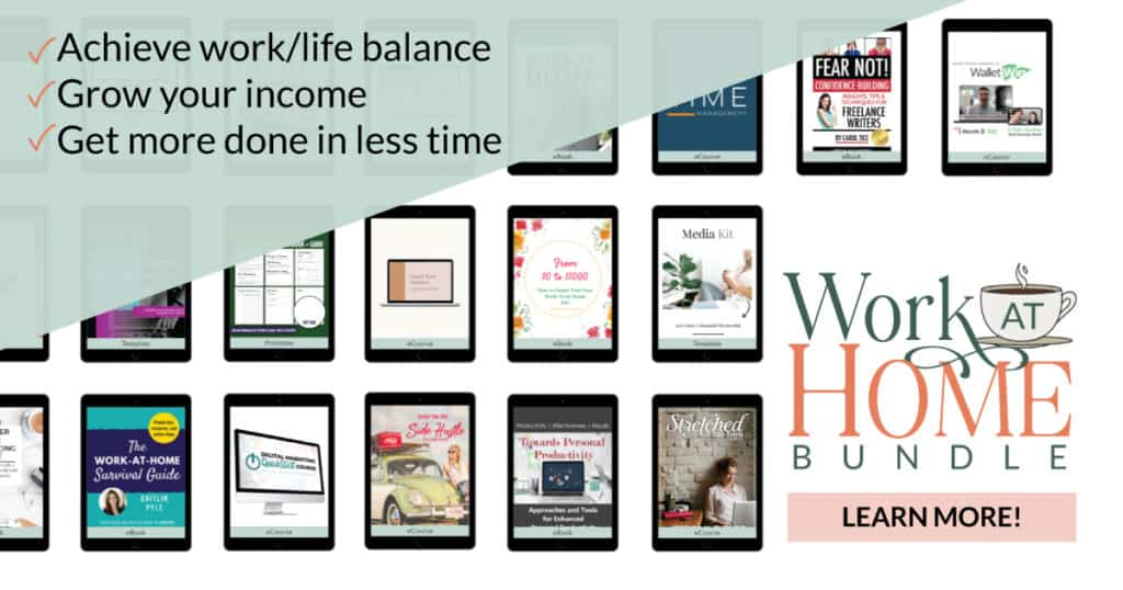 Work From Home Resources for Moms