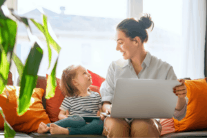 Work at home jobs for moms that pay well