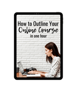 plan your online course